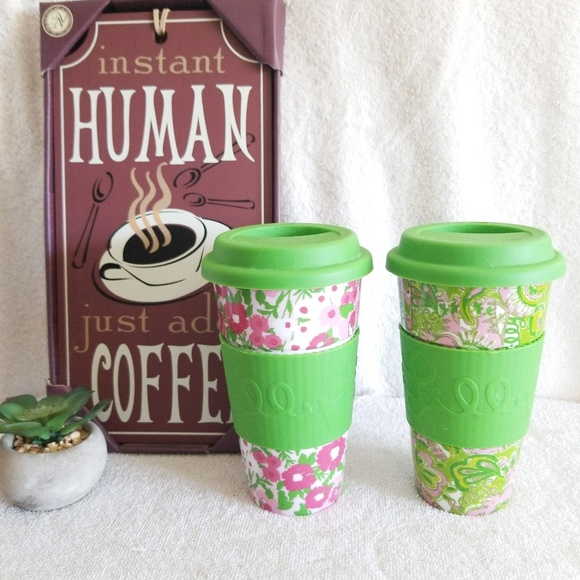 Lilly Pulitzer Other - 2 Lilly Pulitzer Ceramic Tumblers Travel Mugs Cups